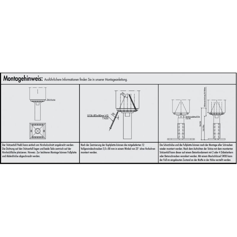 Pfostenträger auf Beton PediX-Stützfuß für Carpo