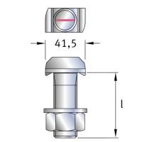 Jordahl Hammerkopfschraube JE M24 galvanisch verzinkt, Festigkeitsklasse 4.6